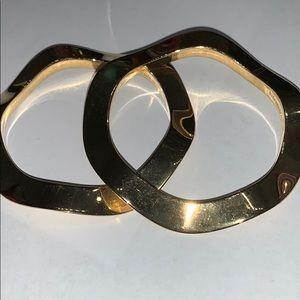 Gold Kate spade wavy bangles set of 2